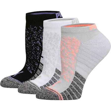 Women's Low Cut Socks [3 Pack], GREY / ORANGE, small